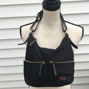 Dooney & Burke black shoulder bag